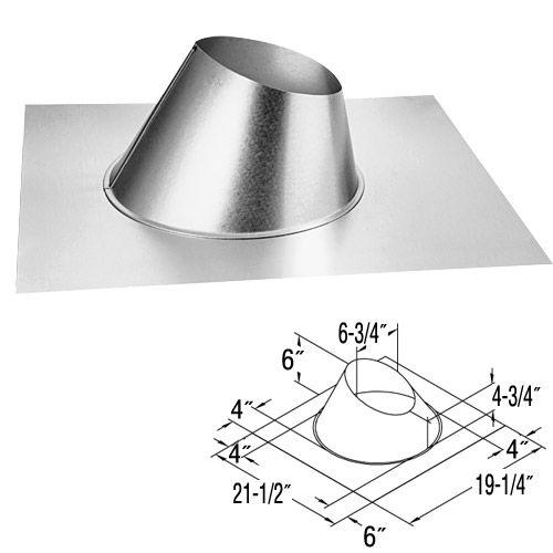 Duravent Adj Roof Flashing 0/12 - 6/12