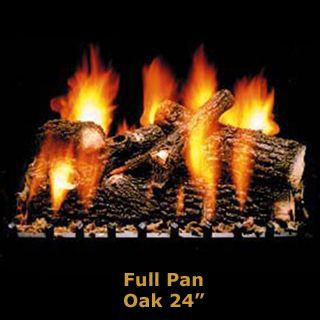Hargrove 24 Oak Log Set - Full Pan