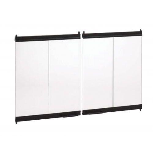 FMI Bi-Fold Glass Fireplace Doors Black Frame