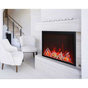 """Amantii 40"""" TruView Tall Electric Fireplace"""