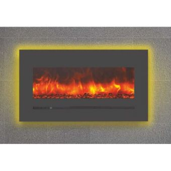 Sierra Flame Wall or Flush Mount Linear Electric Fireplace