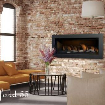 Sierra Flame Stanford 55 Linear Gas Fireplace