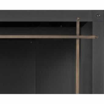 Straight Iron Elements Front | Burnished Brass