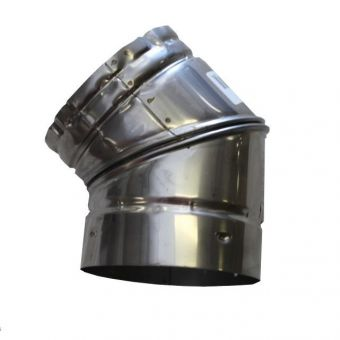 8 in Stainless Steel 45 Liner Elbow
