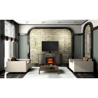 "Cinema 24"" Electric Whitney Fireplace Package"