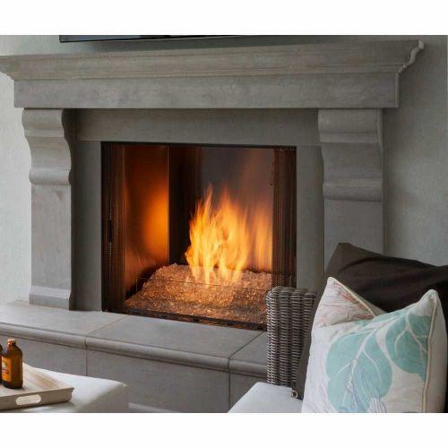 Gas Burning Outdoor Fireplace