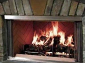 Outdoor Lifestyles Wood Burning Fireplace | Herringbone Refractory | Montana 36
